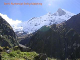 Semi-Numerical String Matching