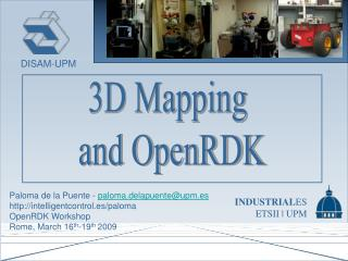 3D Mapping  and OpenRDK