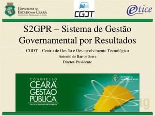 S2GPR – Sistema de Gestão Governamental por Resultados