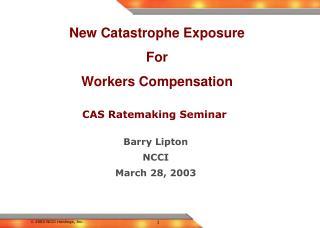 CAS Ratemaking Seminar