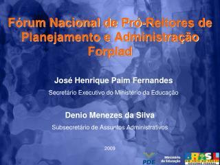 Fórum Nacional de Pró-Reitores de Planejamento e Administração Forplad