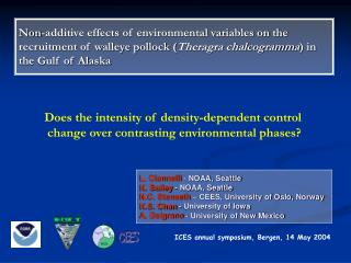 ICES annual symposium, Bergen, 14 May 2004
