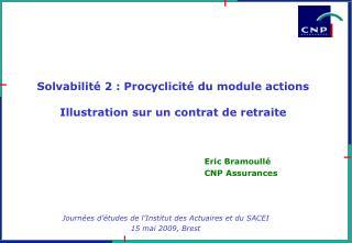 Solvabilité 2 : Procyclicité du module actions  Illustration sur un contrat de retraite