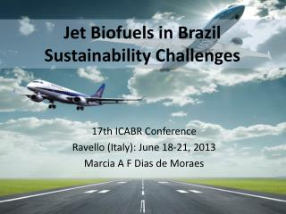 Jet  B iofuels  in  Brazil Sustainability Challenges
