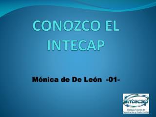 CONOZCO EL INTECAP