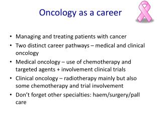 Oncology as a career