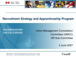 Recruitment Strategy and Apprenticeship Program