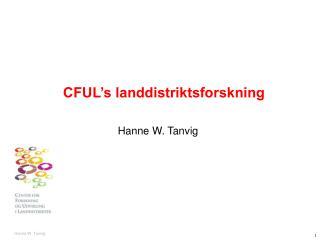 CFUL's landdistriktsforskning