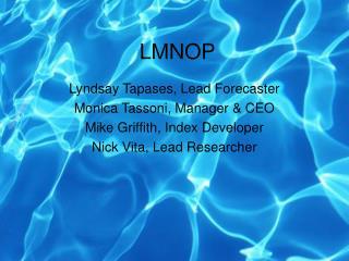 LMNOP Presentation