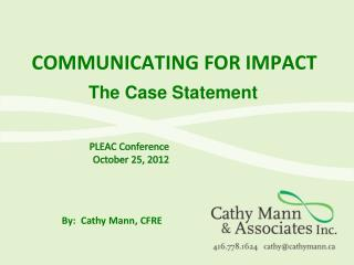 Communicating for impact