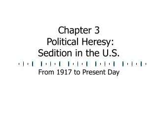 Chapter 3  Political Heresy: Sedition in the U.S.