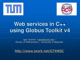 Web services in C++ using Globus Toolkit v4