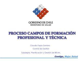 PROCESO CAMPOS DE FORMACIÓN PROFESIONAL Y TÉCNICA