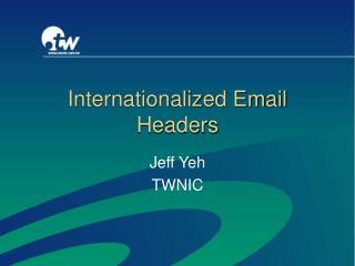 Internationalized Email Headers