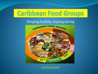 Caribbean Food Groups