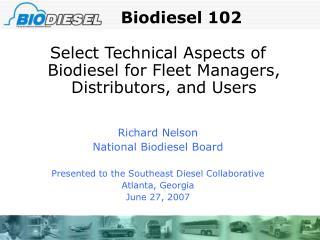 Biodiesel 102