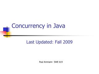 Concurrency in Java