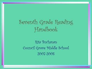 Seventh Grade Reading Handbook