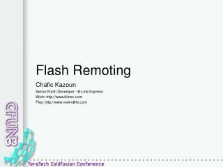 Flash Remoting