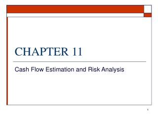cash flow estimation and risk analysis Sensitivity analysis for cash flow simulation  ie either with a risk-adjusted  there are also other monte carlo simulation based volatility estimation methods.
