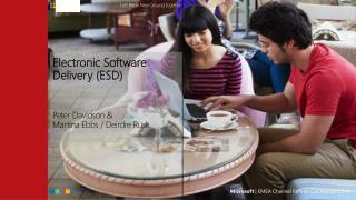 Electronic Software Delivery (ESD) Peter Davidson &  M artina Ebbs / Deirdre Rusk