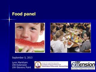 Food panel