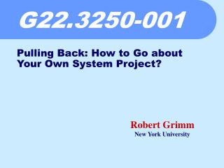 G22.3250-001