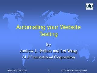 Automating your Website Testing