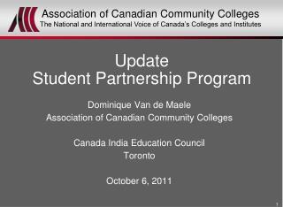 Update Student Partnership Program