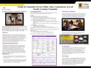 Family & Community Services Think, Value, Communicate, & Lead Faculty Learning Community