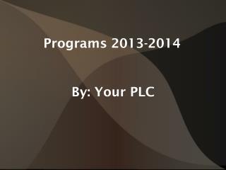 Programs 2013-2014