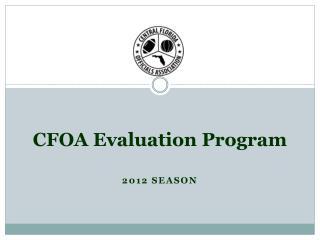 CFOA Evaluation Program