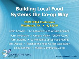 Building Local Food Systems the Co-op Way