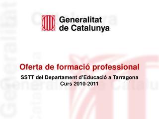 Oferta de formació professional