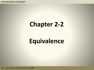 Chapter 2-2 Equivalence