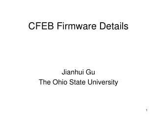 CFEB Firmware Details