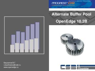 Alternate Buffer Pool OpenEdge 10.2B