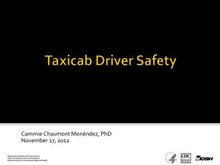Taxicab Driver Safety