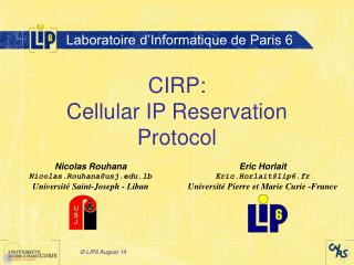 CIRP: Cellular IP Reservation Protocol