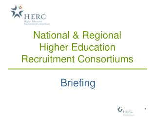 National & Regional  Higher Education  Recruitment Consortiums