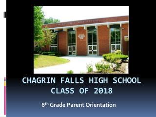 Chagrin Falls High School Class of 2018