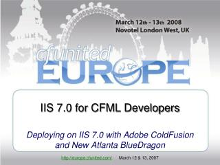 IIS 7.0 for CFML Developers