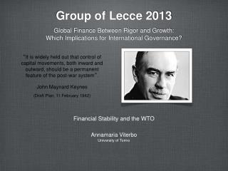 Group of Lecce 2013
