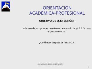 ORIENTACIÓN  ACADÉMICA-PROFESIONAL