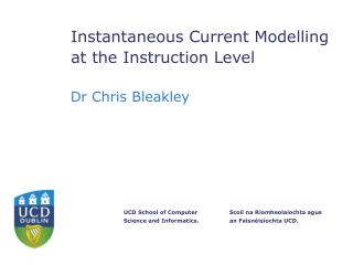 Instantaneous Current Modelling at the Instruction Level