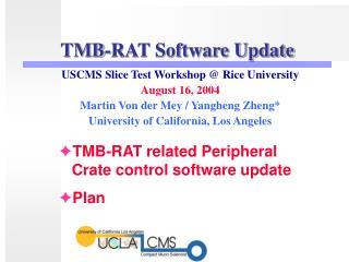 TMB-RAT Software Update