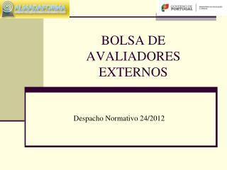BOLSA DE AVALIADORES EXTERNOS