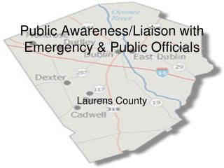 Public Awareness/Liaison with Emergency & Public Officials