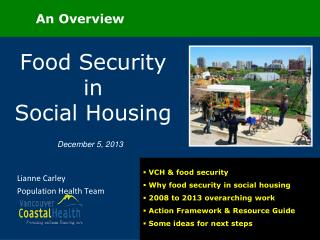 Food Security in          Social Housing