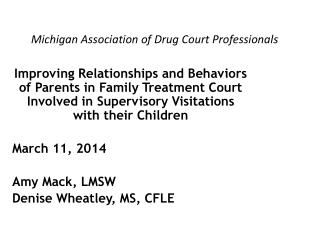 Michigan Association of Drug Court Professionals